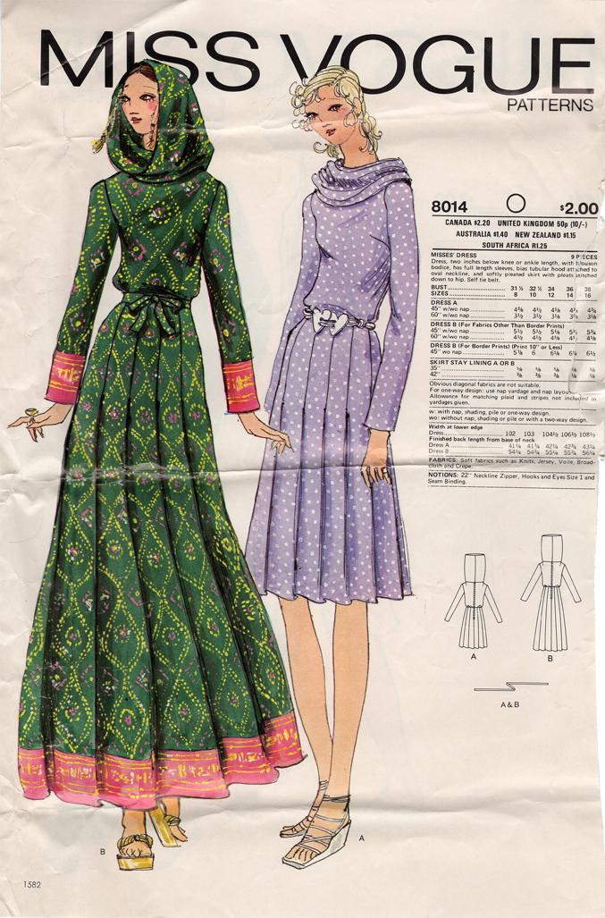 Vogue 8014 A   Vintage Sewing Patterns   FANDOM powered by Wikia