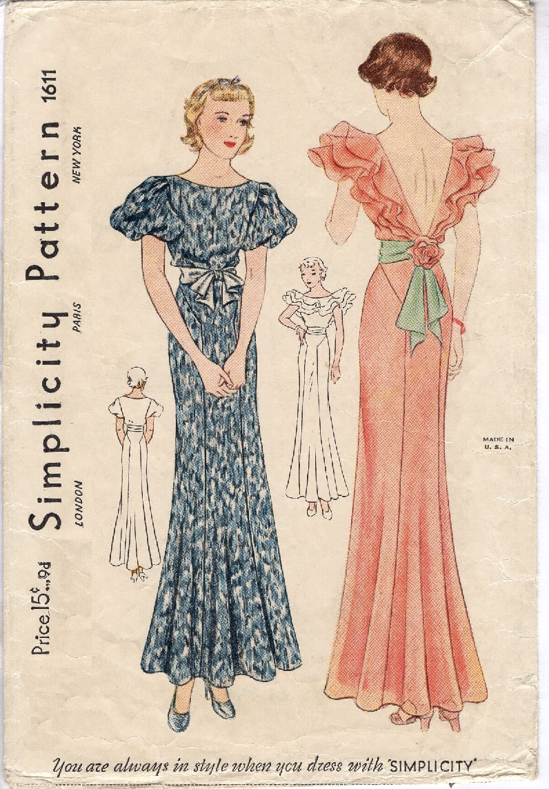Simplicity 1611 A | Vintage Sewing Patterns | FANDOM powered by Wikia