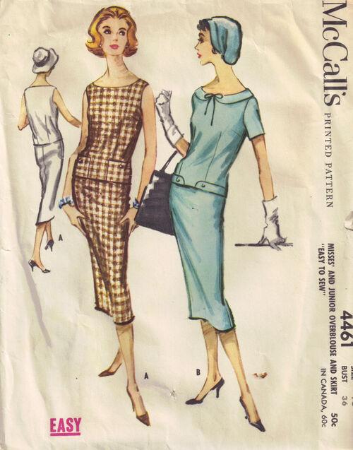 C1958 4461 McCalls blouse skirt sz16