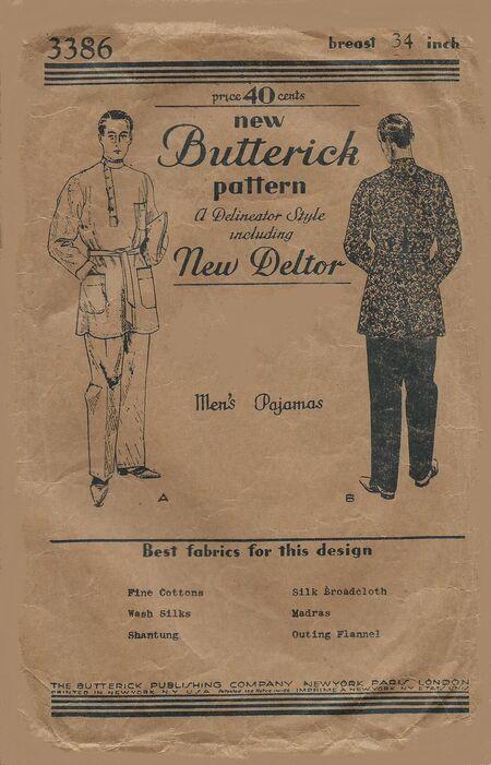 Butterick 3386 adjust