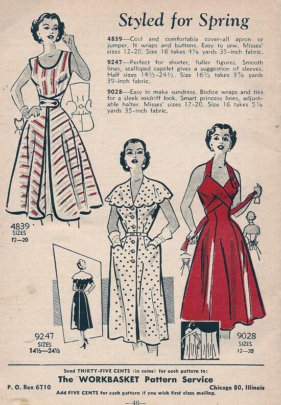 Workbasket Mail Order Patterns May 1953