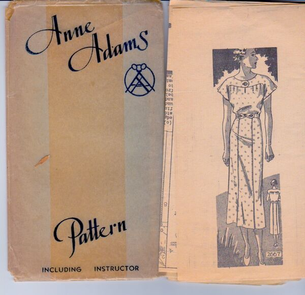 Anne Adams Mail Order 2667 Vitnage Sewing Pattern 2
