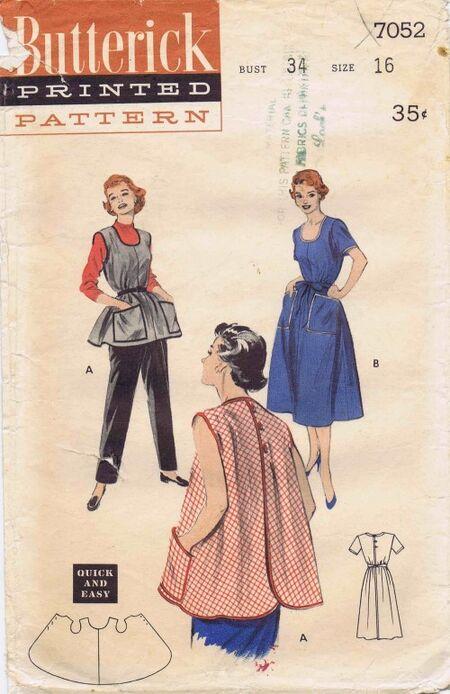 Butterick 1954 7052