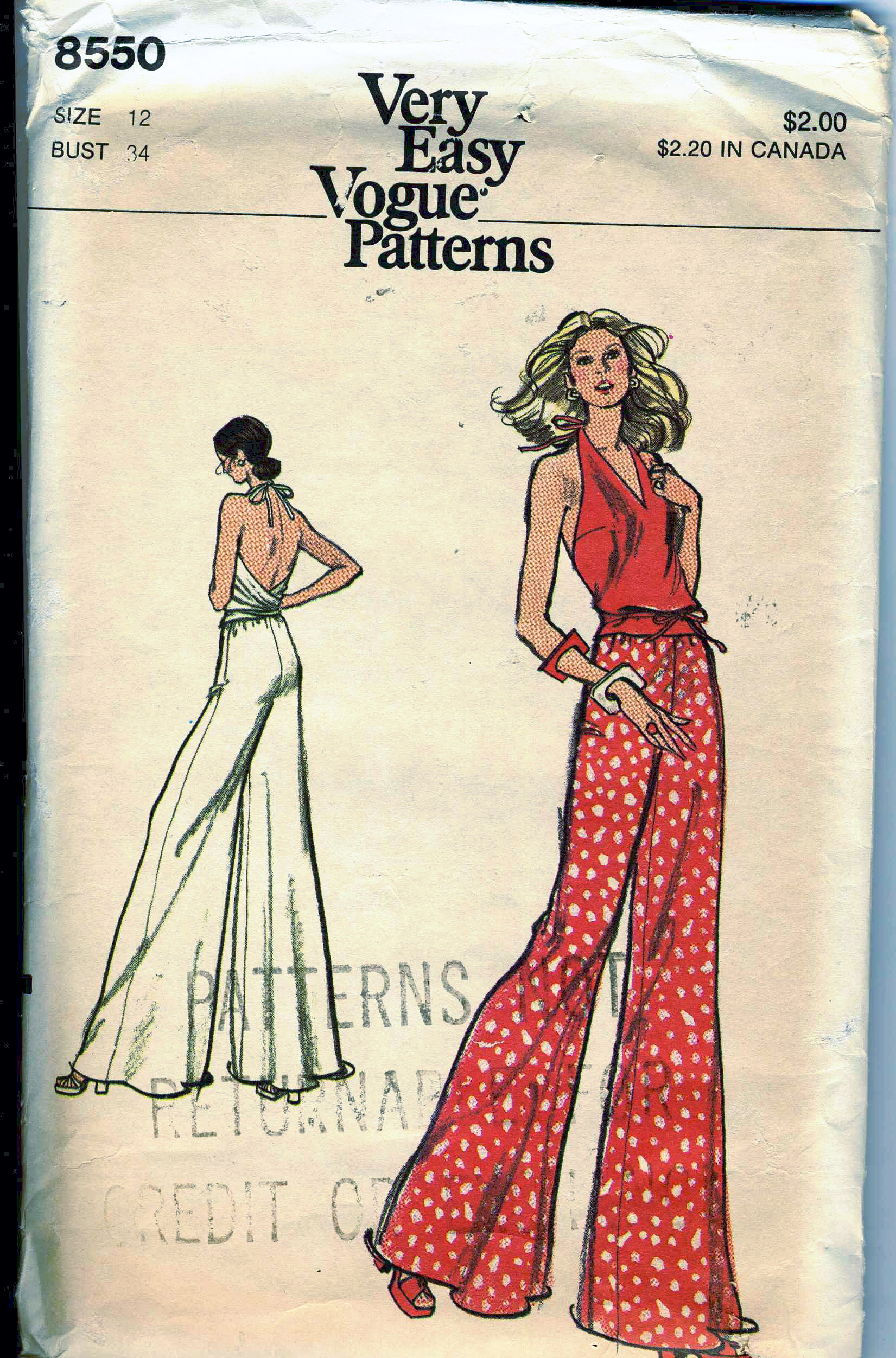 Vogue 8550 | Vintage Sewing Patterns | FANDOM powered by Wikia