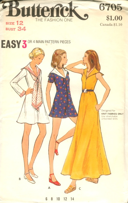Butterick 6705 A | Vintage Sewing Patterns | FANDOM powered by Wikia
