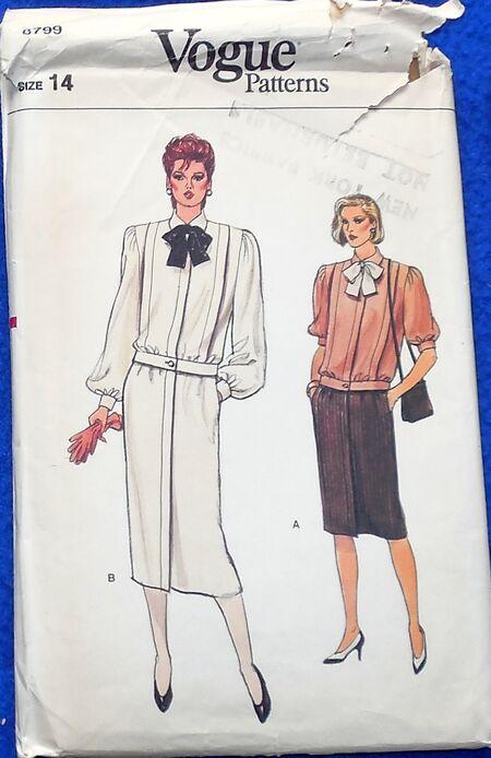 Vogue Reg 8799 Size 14 DRess
