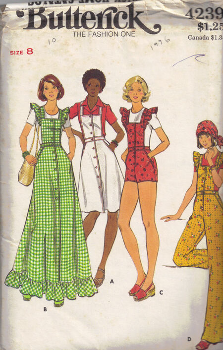 C1976 4239 Butterick Jumper Dress