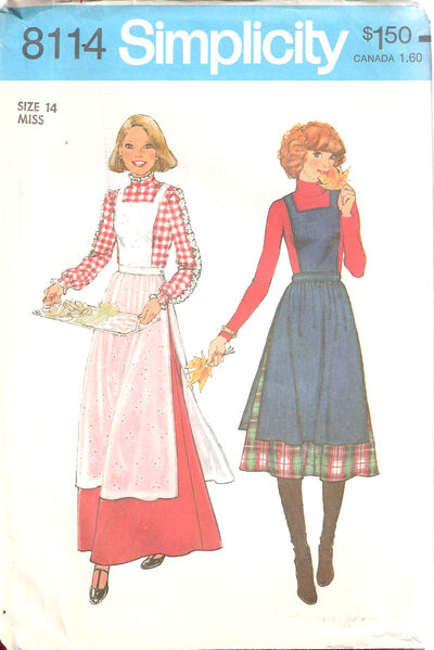 Simplicity-apron-jumper-and