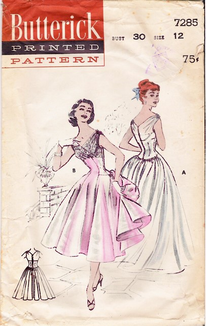 1950's Butterick 7285 front