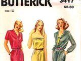 Butterick 3417 A