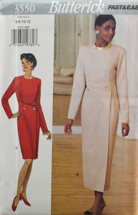 Butterick 3550 Misses' Dress 1