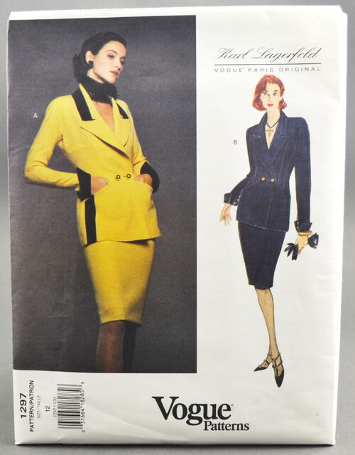Vogue 1297 Karl Lagerfeld Suit 1