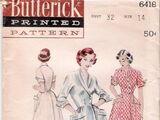 Butterick 6418 A