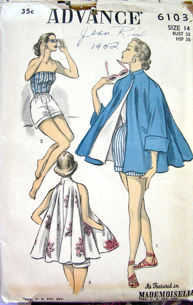 Advance 6103   Vintage Sewing Patterns   FANDOM powered by Wikia