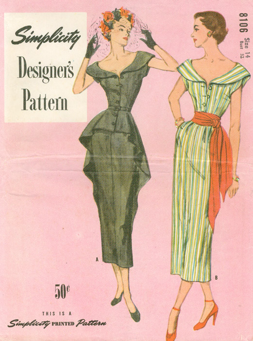 Simplicity 8106 A | Vintage Sewing Patterns | FANDOM powered by Wikia