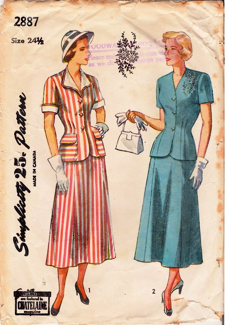 1940's Simplicity 2887 front