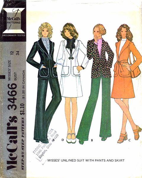McCalls 1972 3466