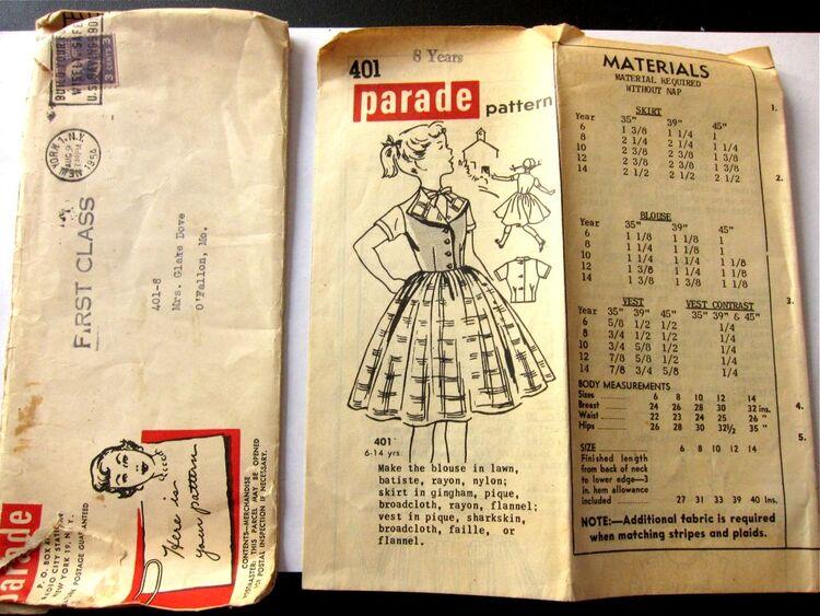 Vintage Parade 401 Mail Order Pattern