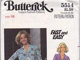 Butterick 5514 A