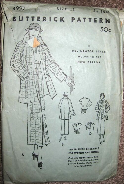 Butterick 4997 A front