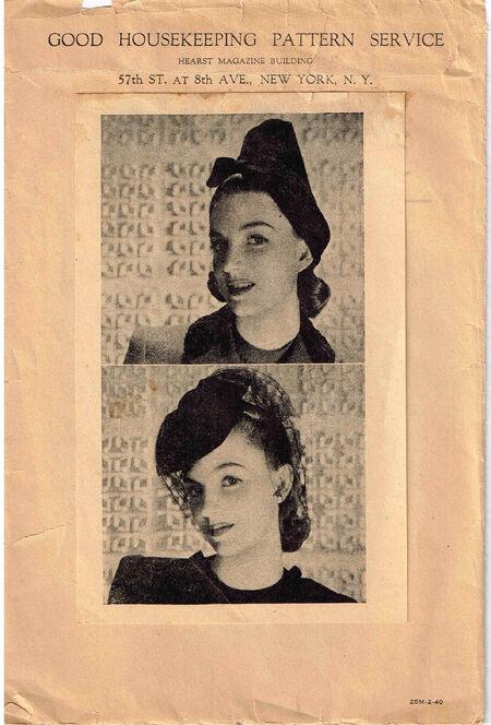 1940s 25M-2-40 Good Housekeeping Hat b