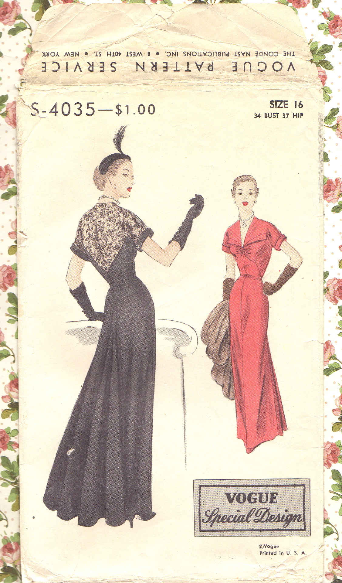 Vogue S-4035 | Vintage Sewing Patterns | FANDOM powered by Wikia