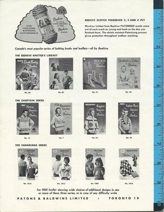 1950s or 60s Patons Baldwins