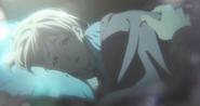 Olivia in ihrem Bett