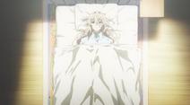 Violet im Krankenbett