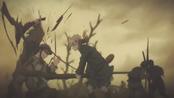 Violett kämpft während des Kriegs