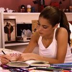 Writing in her diary