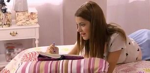 Violetta in Bed Writng in Dairy