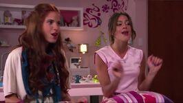 Camila and Violetta singing