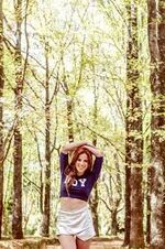 Cande in the forest