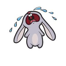 910d436e94e40b6eed94e418d23b9e66 crying-bunny-rabbit-t-shirt-clipart-images-of-a-crying-rabbit 400-400