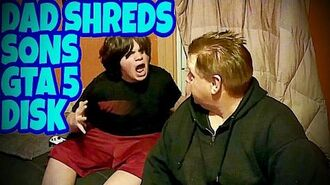 DAD SHREDS SONS GTA 5 DISK!!!