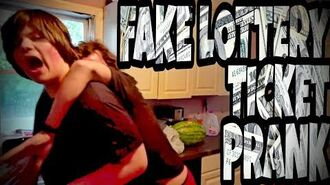 FAKE LOTTERY TICKET PRANK ON WILLIAM!!!
