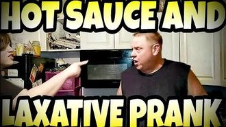 WILLIAM'S HOT SAUCE AND LAXATIVE PRANK ON BILL!!!