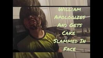 FURIOUS FATHER SMASHES CAKE IN SON'S FACE