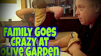 VIOLETTE1ST FAMILY GOES CRAZY IN OLIVE GARDEN!!!