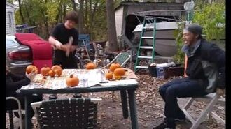 William Destroys Pumpkin With An Ax