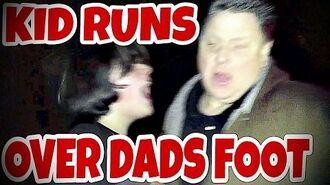 KID RUNS OVER DAD'S FOOT IN TRUCK!!! (RAGE)