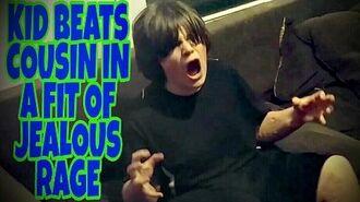 KID BEATS COUSIN IN A FIT OF JEALOUS RAGE!!!