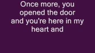 Celine Dion - My Heart Will Go On - Titanic Theme - Lyrics