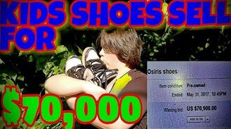 KID'S SHOE'S SELL ON EBAY FOR $70,000!!!