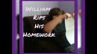 William rips his homework