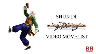 Virtua Fighter 5 FS - Video Movelist - Shun Di