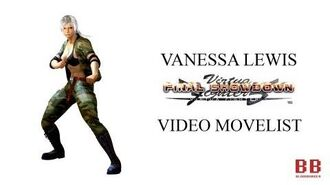 Virtua Fighter 5 FS - Video Movelist - Vanessa Lewis