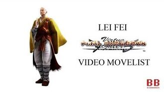 Virtua Fighter 5 FS - Video Movelist - Lei-Fei