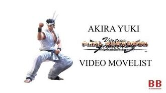 Virtua Fighter 5 FS - Video Movelist - Akira Yuki
